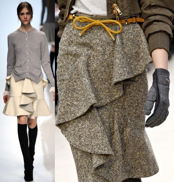 Модные сарафаны осень-зима с декором
