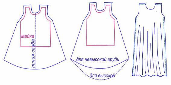 Как сшить юбку под майку 145
