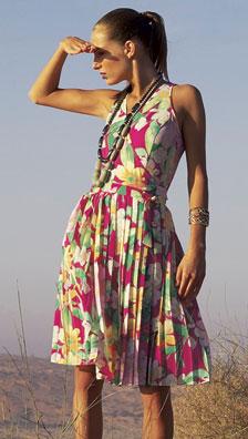 Комментарий: Выкройка пляжного платья на завязке