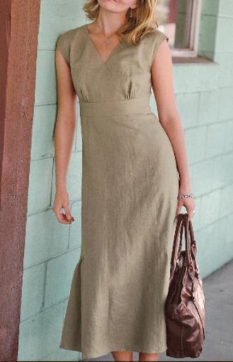 Платья из льна. Льняное платье