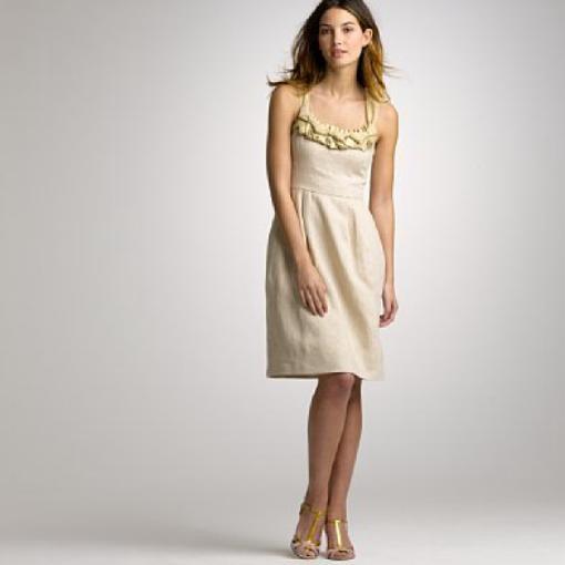 Платье изо льна с вышивкой. Украиночка. Модель 246А - Платья